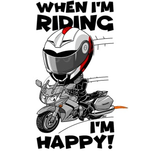 FJR1300 When I'm riding, I'm happy