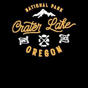 Crater Lake Oregon Nationalpark Weinlese Retro