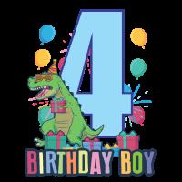 Dino T-Shirt Ich bin schon 4 T-Rex Junge