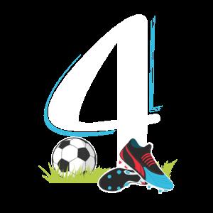 Fußball 4. Geburtstag T-Shirt