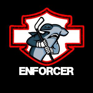 Vollstrecker Enforcer Hai Eishockey Spieler