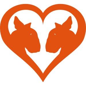 Bull Terrier Love Heart