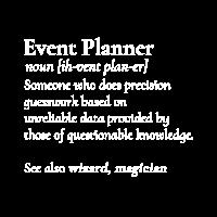 Lustiger Ereignis-Planer, der Nominaldefinitions-Hemd bedeutet