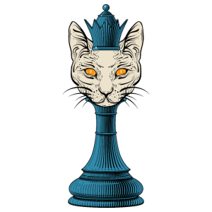Schach Katze T shirt, Geschenk Kätzchen Fan Herren
