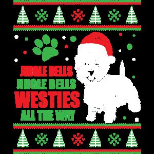 Hässliches Weihnachten Westie West Highland Terrier