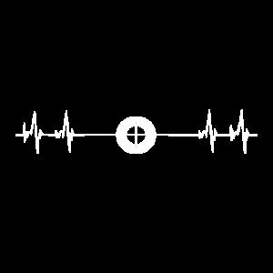 Heartbeat Herzschlag Shirt Sniper , Sportschütze ,