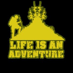 Life is an adventure | Outdoor T-Shirt