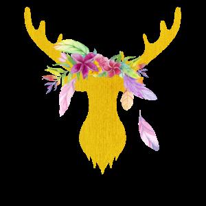 Bohemien Boho Geweih Blumen
