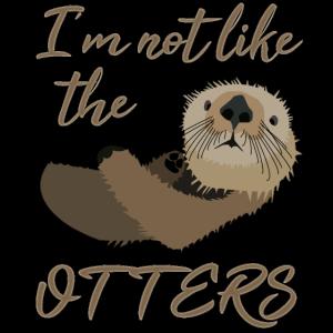 Nicht wie die anderen - Witziges Otter Wortspiel