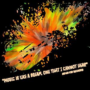 Tuba Farbexplosion Zitat Geschenk
