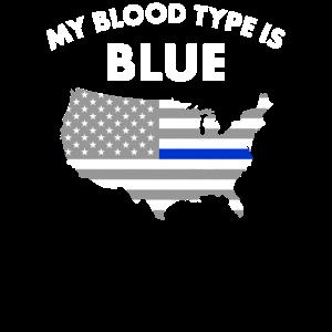 Stolze dünne blaue Linie Polizist-Familienmitglied