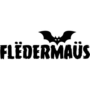 Flëdermaüs - Logo black