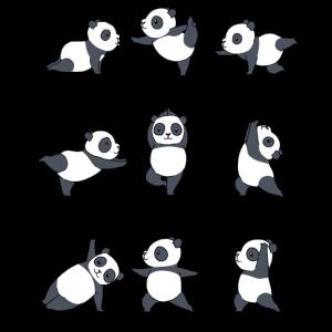 Yoga Panda Meditation Yogi Namaste Zen Geschenk
