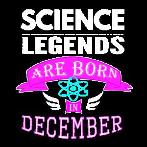 Wissenschaftslegenden werden im Dezember Mädchen geboren