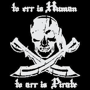 Pirat Arr Spruch lustig Totenkopf Säbel