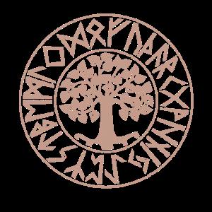 Yggdrasil Baum des Lebens Futhark Runen Wikinger
