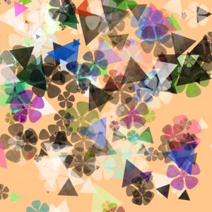 abstrakte kunst froehliche bluete