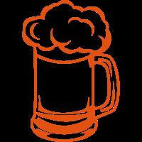 Bierglas Bier Alkoholschaum binouze