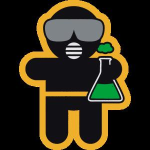 Berufbekleidung und Accessoires: der Chemiker