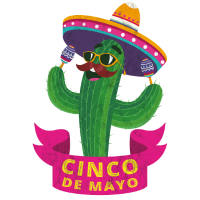 Cinco de mayo Mexiko Mexikaner Kaktus Sombrero