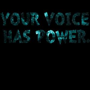 Ihre Stimme verfügt über Strom, um Überlebende zu unterstützen