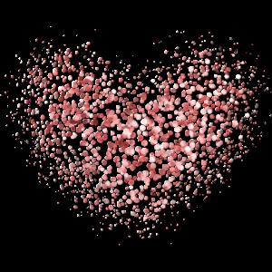 Funkeln Glitzer Herz Rot Pink