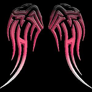 Tribal Fluegel Pink Tattoo Style