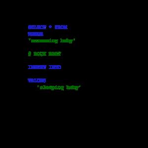 MySQL Code New Baby - Rock Baby in den Schlaf