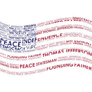 Thomas Jefferson Flag USA Wordart statesman