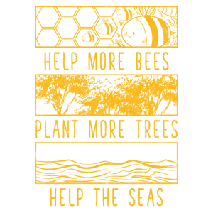Help More Bees Plant More Trees T-Shirt Vintage