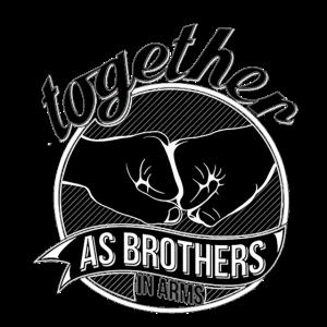 Brothers in arms Shirt Geschenkidee Bruder schwarz