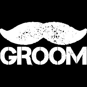 Groom Bräutigam Schnurrbart JGA