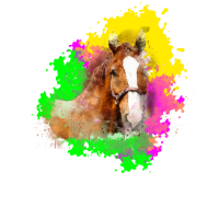Pferd bunte Sommerfarben