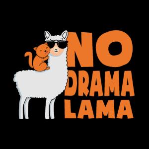 No Drama Lama Mit Lustige Katze Geschenk