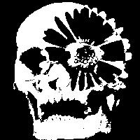 Schädel Blume Tag der Toten