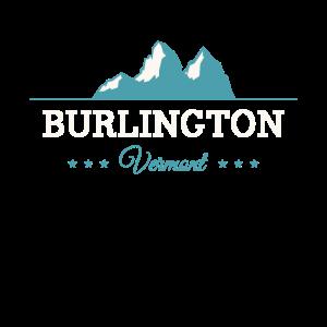 Vintage Burlington Vermont Winter Skifahren Spaß