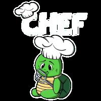 Schildkröte Chefkoch Koch Kochen Geschenk Küche