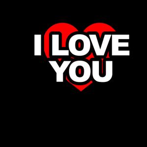 I Love You T Shirt Geschenk fuer Freundin
