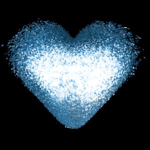Funkeln Glitzer Herz Gold Blau