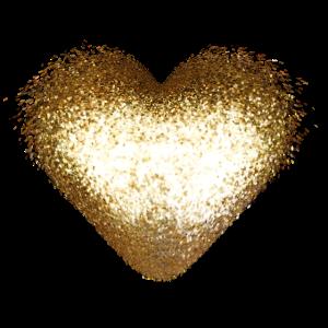 Funkeln Glitzer Herz Gold Gelb