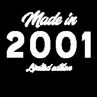 Made in 2001 Geburtstag Geschenk Happy Birthday