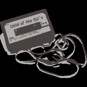 Kind der 80er Retro Kassette Tape Spruch Geschenk