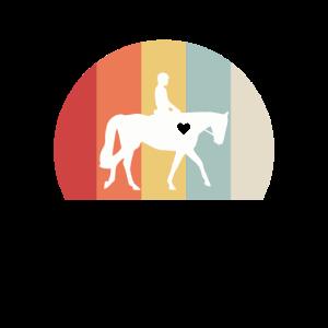 Pferd Vintage Pferderennen Reiterin Geschenk