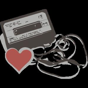 Tape Herz Kassette Mixtape 80er Jahre Geschenk