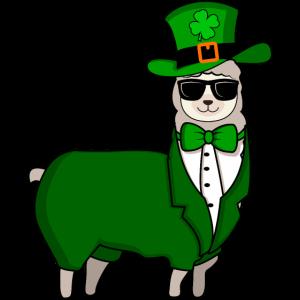 Happy St Patricks Day Lustiges Lama Geschenk