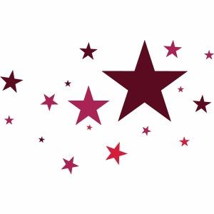 Sterne dreifarbig Vektor