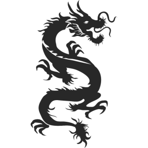 Black Dragon Graphic Illustration - Drache