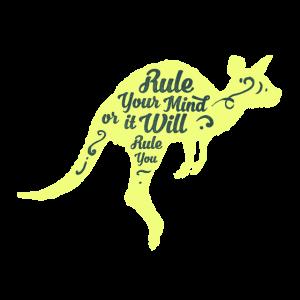 Känguruh Tiere Motivation