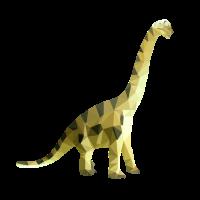 Dinosaurier einzeln farbig Polygon