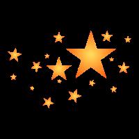 Sterne in Orange